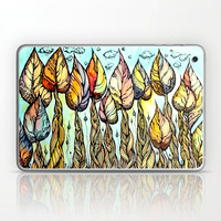 autumn-grove-hand-drawn-watercolor-and-ink-drawing-laptop-skins