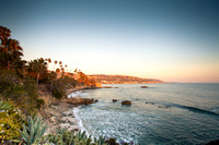Sunset on  Laguna Beach ,Orange County ,California,