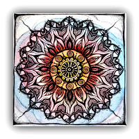 "Color Mandala 5,5""x5,5"" $28.00"
