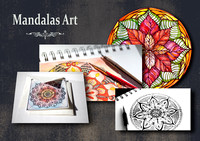Originals-Mandalas. Creative with  ink and pen hand drawing