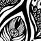 Black & White Mandala For  Meditation