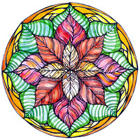 "Christmas Star Mandala 5""x5"" $28.00"