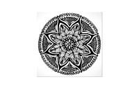 Black & White Mandala For  Meditation