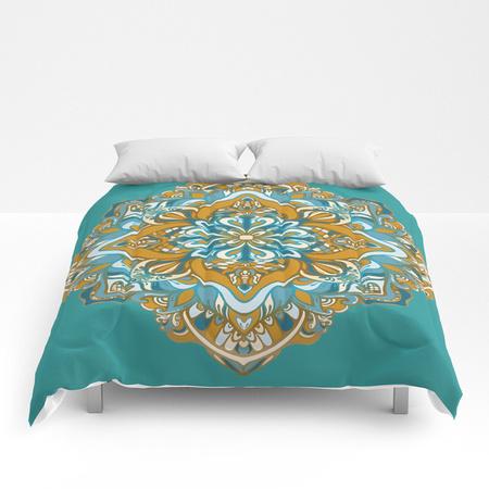 golden-green-vector-mandala-comforters